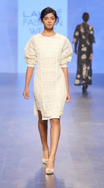 Western wear - Dress - Sahil Kochhar - White lace dress - Lakme Fashion Week Summer-Resort 2016
