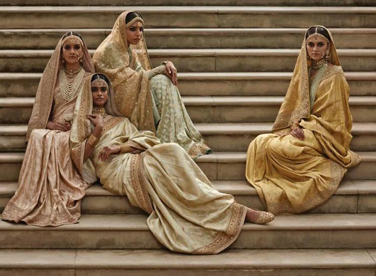 Campaign - pastel saris - Sabyasachi Spring Summer Weddings 2016 collection