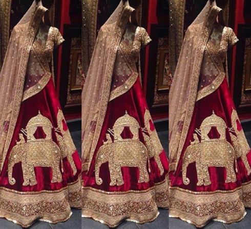 Inside the store - elephant motif lehenga - Sabyasachi Spring Summer Weddings 2016 collection