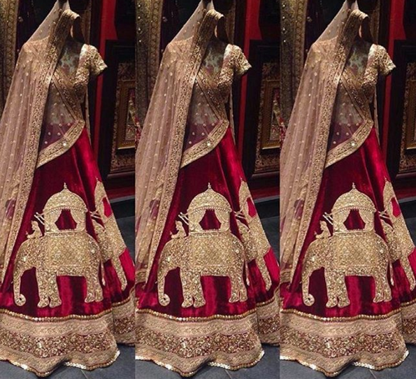 Inside the store - elephant motif lehenga - Sabyasachi Spring Summer Weddings 2016 collection