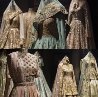 Inside the store - Pastels trousseau pieces - Sabyasachi Spring Summer Weddings 2016 collection