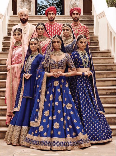 Sabyasachi Spring Summer Wedding 2016 collection blue 1
