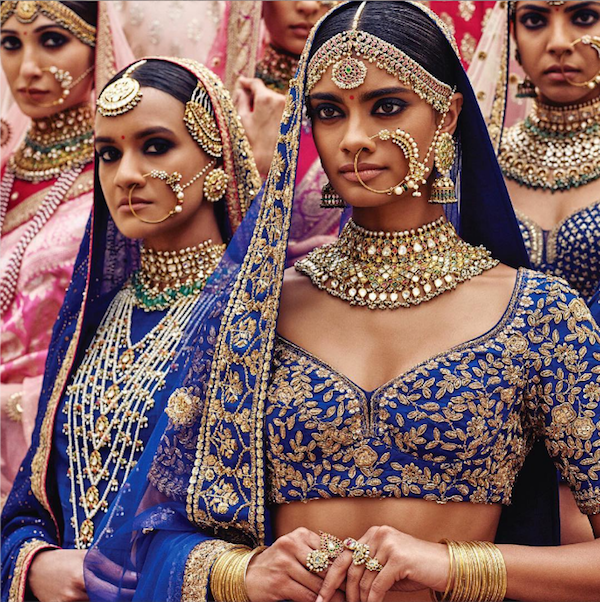 Sabyasachi Spring Summer Wedding 2016 collection blue 2