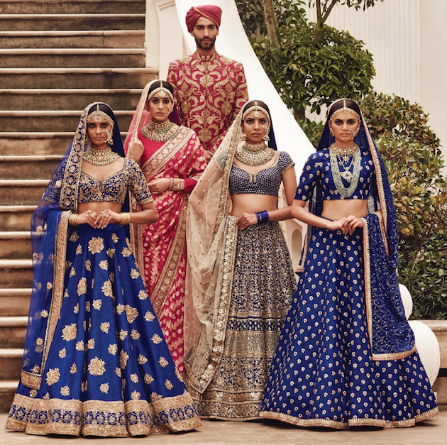 Sabyasachi Spring Summer Wedding 2016 collection blue 4