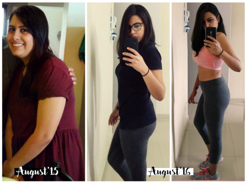 Sheena lost 10 kgs in 5 months - before after pictures